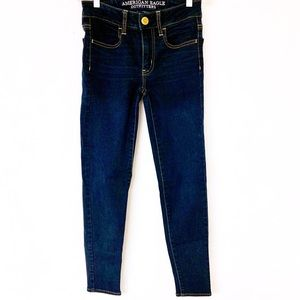 AEO DENIM Jegging Super Stretch Skinny Sz 00 Short